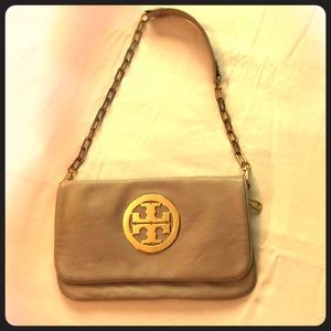 Tory Burch leather convertible clutch
